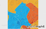Political 3D Map of Shangyi