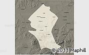 Shaded Relief 3D Map of Shangyi, darken