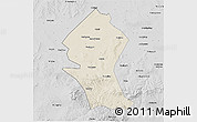 Shaded Relief 3D Map of Shangyi, desaturated