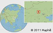 Savanna Style Location Map of Shangyi