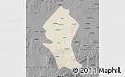 Shaded Relief Map of Shangyi, darken, desaturated