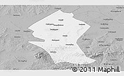 Gray Panoramic Map of Shangyi