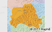 Political Map of Weichang, lighten