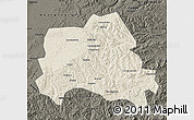 Shaded Relief Map of Weichang, darken
