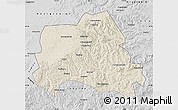 Shaded Relief Map of Weichang, desaturated