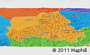Political Panoramic Map of Weichang