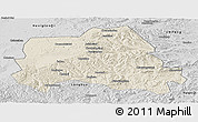 Shaded Relief Panoramic Map of Weichang, desaturated