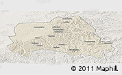 Shaded Relief Panoramic Map of Weichang, lighten