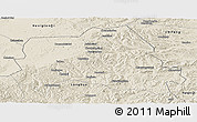 Shaded Relief Panoramic Map of Weichang
