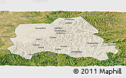 Shaded Relief Panoramic Map of Weichang, satellite outside