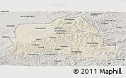 Shaded Relief Panoramic Map of Weichang, semi-desaturated