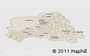 Shaded Relief Panoramic Map of Weichang, single color outside