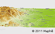 Physical Panoramic Map of Wu An