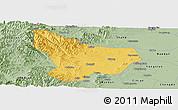Savanna Style Panoramic Map of Wu An