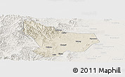 Shaded Relief Panoramic Map of Wu An, lighten