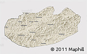 Shaded Relief 3D Map of Xinglong, cropped outside