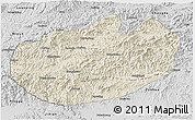 Shaded Relief 3D Map of Xinglong, desaturated