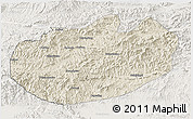 Shaded Relief 3D Map of Xinglong, lighten