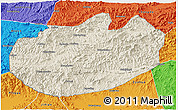 Shaded Relief 3D Map of Xinglong, political outside