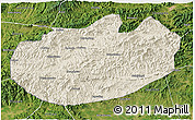 Shaded Relief 3D Map of Xinglong, satellite outside
