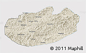 Shaded Relief 3D Map of Xinglong, single color outside