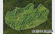 Satellite Map of Xinglong, darken