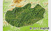Satellite Map of Xinglong, physical outside