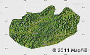 Satellite Map of Xinglong, single color outside