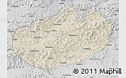 Shaded Relief Map of Xinglong, desaturated