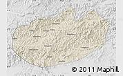 Shaded Relief Map of Xinglong, lighten, desaturated