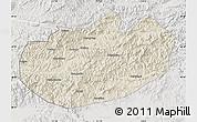 Shaded Relief Map of Xinglong, lighten, semi-desaturated