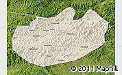 Shaded Relief Map of Xinglong, satellite outside