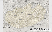 Shaded Relief Map of Xinglong, semi-desaturated