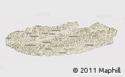 Shaded Relief Panoramic Map of Xinglong, cropped outside
