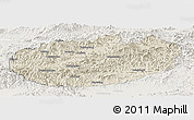 Shaded Relief Panoramic Map of Xinglong, lighten