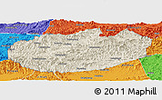 Shaded Relief Panoramic Map of Xinglong, political outside