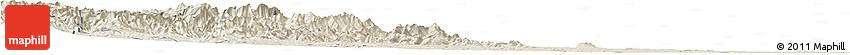Shaded Relief Horizon Map of Xingtai