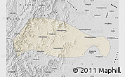 Shaded Relief Map of Xingtai, desaturated