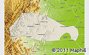 Shaded Relief Map of Xingtai, physical outside