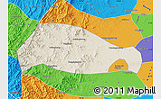 Shaded Relief Map of Xingtai, political outside