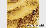 Physical Map of Yu Xian