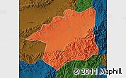 Political Map of Yu Xian, darken