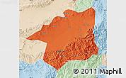 Political Map of Yu Xian, lighten