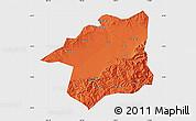 Political Map of Yu Xian, single color outside