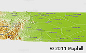 Physical Panoramic Map of Yuanshi