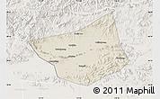 Shaded Relief Map of Zunhua, lighten