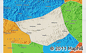 Shaded Relief Map of Zunhua, political outside