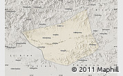 Shaded Relief Map of Zunhua, semi-desaturated