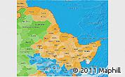 Political Shades 3D Map of Heilongjiang