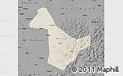 Shaded Relief Map of Acheng, darken, desaturated